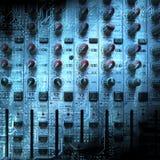 Ljudsignal blandande konsolcloseup Royaltyfri Fotografi