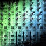 Ljudsignal blandande konsolcloseup Arkivfoto