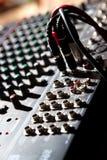 ljudsignal blandande panel Arkivfoto