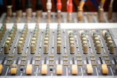 Ljudsignal blandare Arkivbild