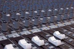 ljudsignal blandare Arkivbilder