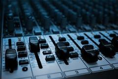 ljudsignal blandare Arkivfoto