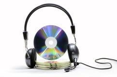 Ljudsignal CD Fotografering för Bildbyråer