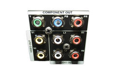 ljudsignal component video Arkivbilder