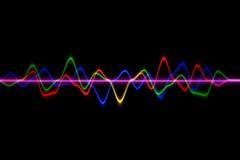 Ljudsignal digital utjämnareteknologi, pulsmusikal abstrakt begrepp av så Arkivfoto