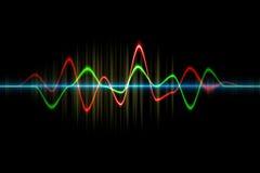 Ljudsignal digital utjämnareteknologi, pulsmusikal abstrakt begrepp av så Royaltyfria Foton