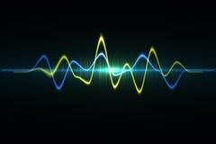 Ljudsignal digital utjämnareteknologi, pulsmusikal abstrakt begrepp av så Royaltyfri Bild