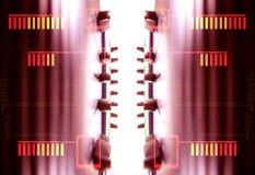 ljudsignal fadersmodell Arkivbild