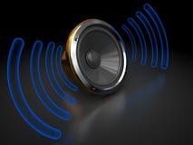 ljudsignal högtalare Arkivfoto