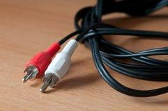 Ljudsignal kabel Arkivbilder