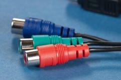 Ljudsignal kabel Fotografering för Bildbyråer