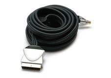 ljudsignal kabel mig video Arkivfoton