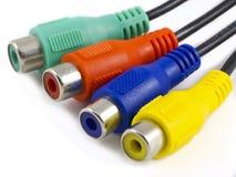ljudsignal kabelvideo Fotografering för Bildbyråer