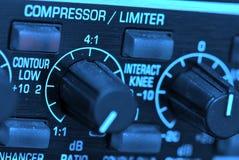ljudsignal kompressorlimiter Arkivfoto