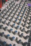 Ljudsignal konsol i musikstudio Royaltyfria Bilder