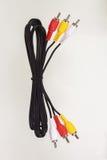 ljudsignal och video kabel för modell Royaltyfria Bilder