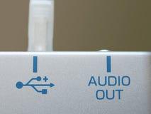 ljudsignal portusb arkivfoton