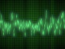 ljudsignal sound wave Arkivfoton