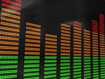 ljudsignal spectrum Arkivbilder