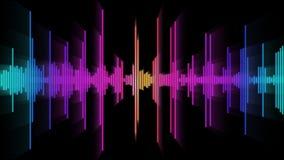 ljudsignal spectrum för glöd 01 Royaltyfria Bilder