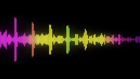 ljudsignal spectrum för glöd 03 Arkivfoton