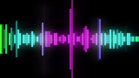Ljudsignal spektrumPIXELstil