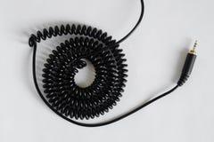 Ljudsignal stålar 3 5 och ljudsignal tråd - vår Guld pläterad ljudsignal stålar arkivbild