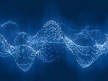 Ljudsignal suddighetsstruktur på blå bakgrund Fotografering för Bildbyråer