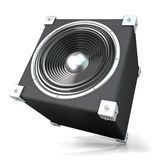 ljudsignal svart högtalare Fotografering för Bildbyråer