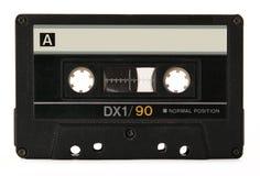 ljudsignal svart kassett Royaltyfri Fotografi
