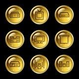 ljudsignal symbolsvideorengöringsduk Arkivbild