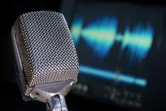 ljudsignal teknik Fotografering för Bildbyråer