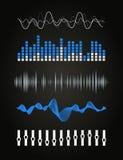 Ljudsignal utjämnare Fotografering för Bildbyråer