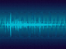 ljudsignal vektorwaveform Royaltyfri Bild