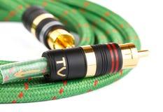Ljudsignal video kabel royaltyfria foton