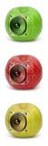 ljudsignala äpplen Arkivbilder