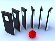 ljudsignala digitala spelare mp3 Arkivbild