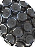 ljudsignala högtalare Fotografering för Bildbyråer