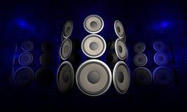 ljudsignala högtalare Arkivfoton