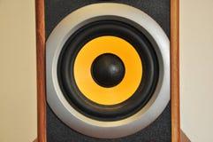 Ljudsignala högtalare för högtalare arkivbild
