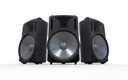 Ljudsignala högtalare som isoleras på vit bakgrund royaltyfri illustrationer