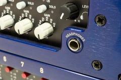 Ljudsignala kontaktdon, kablar och kontaktdon Fotografering för Bildbyråer