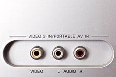 Ljudsignala och videopp stickkontakter Royaltyfri Foto