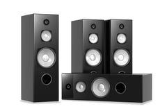 ljudsignala stora högtalare Arkivbilder
