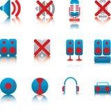 ljudsignala symboler Royaltyfri Fotografi
