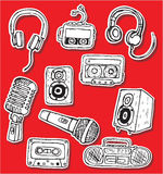 Ljudsignala symboler Royaltyfria Foton