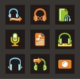 ljudsignala symbolsmedel Fotografering för Bildbyråer