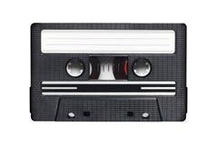 Ljudsignalkassett på vit Arkivfoton