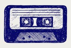 Ljudsignalkassetten tejpar Arkivbild