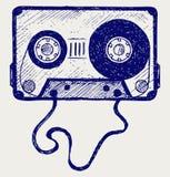 Ljudsignalkassetten tejpar Arkivbilder